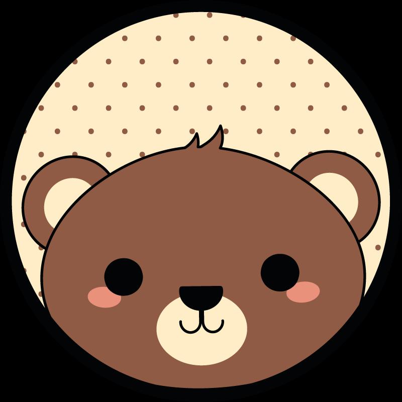TenStickers. Tapete animal de castor de anime. Este é o tapete de vinil de castor de anime perfeito para as crianças pegarem seu filho! Há um urso marrom bonito no tapete de vinil.
