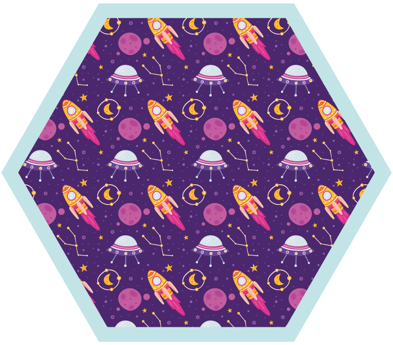 TenStickers. Outer space doodles star carpet. Check out this incredible outer space doodles vinyl carpet for kids! It has an amazing aspects like with space and extraterrestrials for kids.
