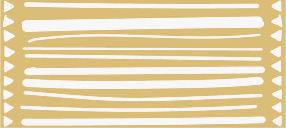TenStickers. Yellow and white stripes and triangles stripes rug. Vinyl rug with yellow stripes, abstract decoration for your flat. Made of high quality vinyl material. Easy to clean and store.