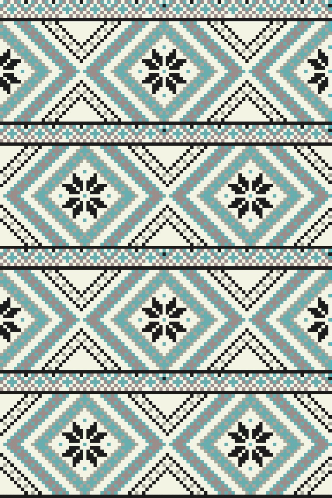 TenStickers. Figuras geométricas escandinavas tapetes de estilo nórdico. O nosso tapete de vinil escandinavo dá uma ideia de como são os invernos frios da escandinávia, com as suas cores frias e design. Torne-se um viking hoje!