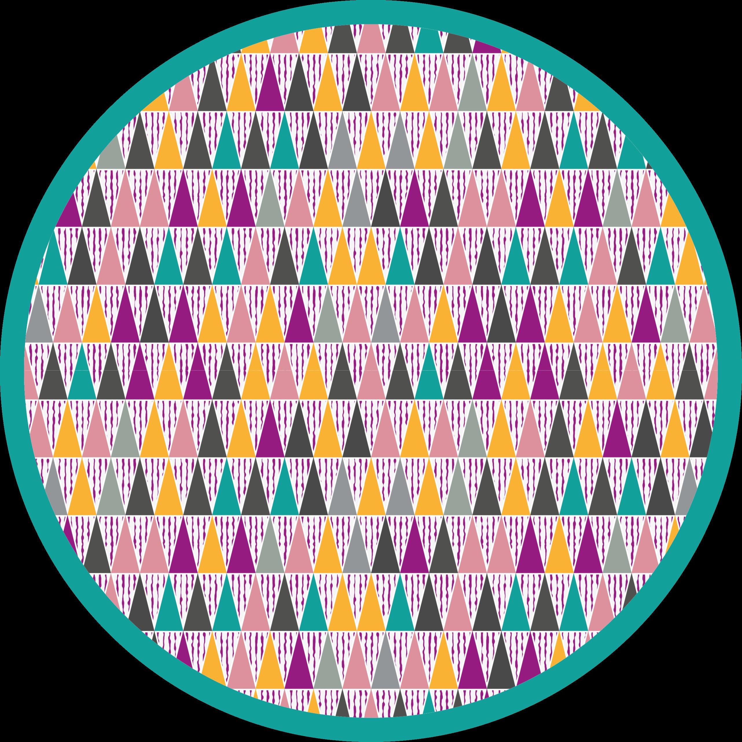 TenVinilo. Alfombra vinilo nórdica colores intensos. Una colorida alfombra vinilo nórdico para que todos los que entren en tu casa se asombren. Producto muy colorido en forma redonda.