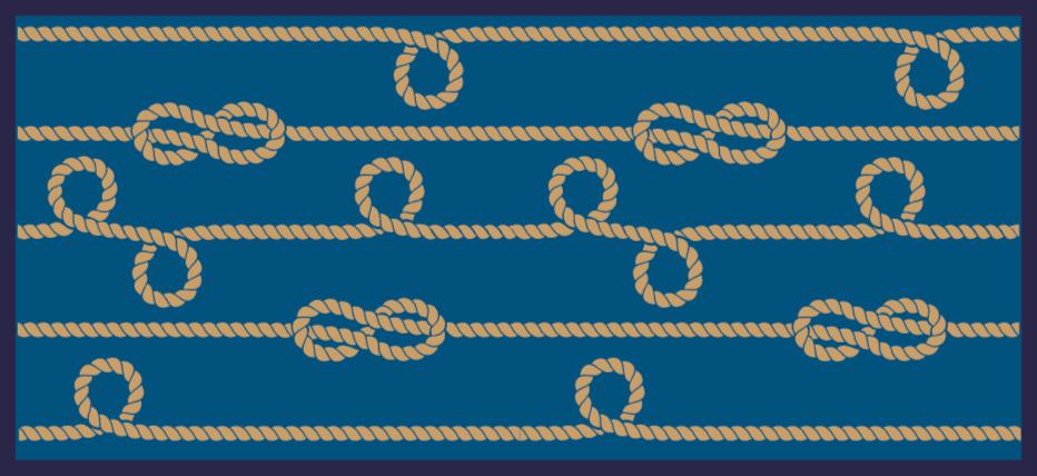 TenStickers. σχοινί βρόχους ρετρό χαλί βινυλίου. Vintage σχοινί βρόχους βινυλίου χαλί που θα φανεί καταπληκτικό στο πάτωμα της κουζίνας σας. ορθογώνιο σχήμα σε οποιοδήποτε μέγεθος θέλετε! παγκόσμια παράδοση!