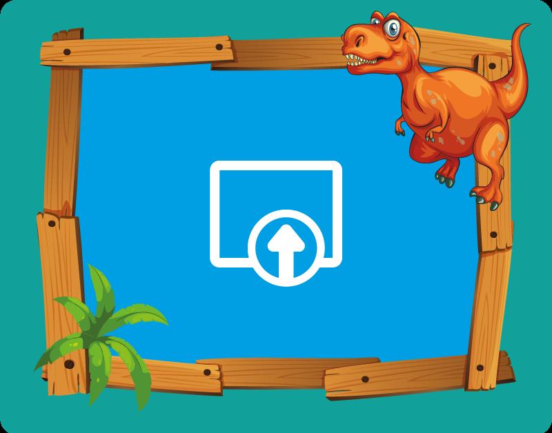 TenStickers. 恐龙与木结构的孩子乙烯基地毯. 这种可爱的可自定义的带有恐龙的乙烯基伴侣将为您的房屋增添许多特色。我们网站上提供的折扣。