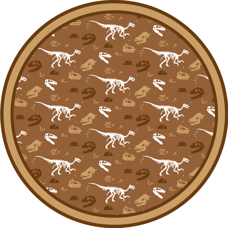 TenStickers. dinosaur skeletons pattern animal mat. The best dinosaur animal vinyl rug to put in any room of your home! With +10,000 satisfied customers you are in safe hands.