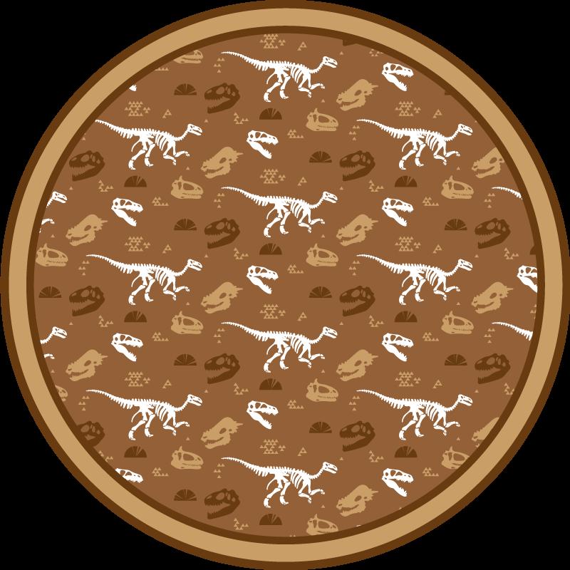 TenStickers. Dywan winylowy ze wzorem szkieletów dinozaurów. Najlepszy dywan winylowy z dinozaurami, który można umieścić w dowolnym pomieszczeniu w domu! Z ponad 10000 zadowolonych klientów jesteś w dobrych rękach.