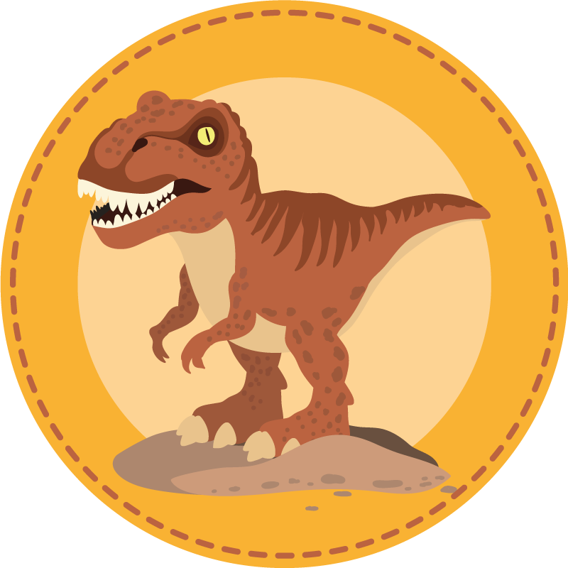 TenVinilo. Alfombra vinilo infantil T-Rex rugiendo. ¡Con esta gran alfombra vinilo infantil de dinosaurio de color naranja el suelo de tu hijo será increíble! ¡Compra online ahora!