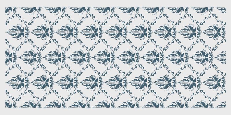 TenVinilo. Alfombra vinílica vintage patrón floral verde. Te encantará esta gran alfombra vinílica vintage de color blanco con patrón floral verde. Elige las medidas ¡Descuentos disponibles!