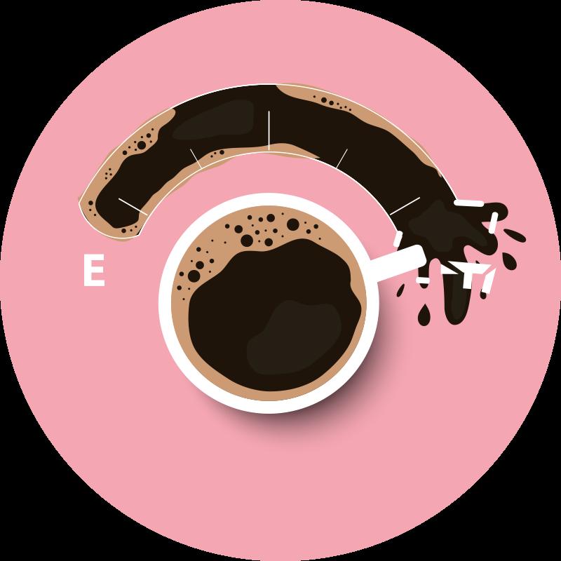 TenStickers. 强大的咖啡杯模板当代地毯. 创意设计的咖啡黑胶地毯,展示您的饮料强度。注册我们的网站,即可享受首次订单10%的折扣。