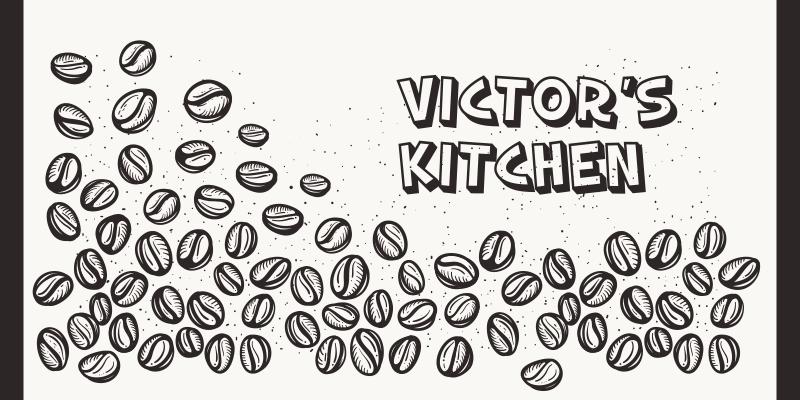 TenStickers. Fundo com grãos de café tapetes contemporâneos. Este tapete de vinil para café de cozinha é a melhor forma de dar um toque pessoal à sua casa! Inscreva-se hoje para obter 10% de desconto no seu primeiro pedido.
