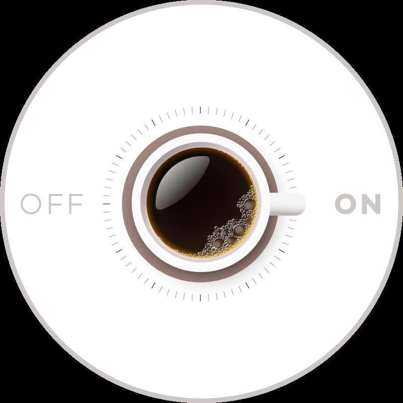 TenStickers. tapis vinyle ultra moderne Tasse de café avec marche et arrêt. Ce tapis en sticker café moderne unique et créatif fera un excellent ajout à votre maison! Rabais disponibles sur notre site web.