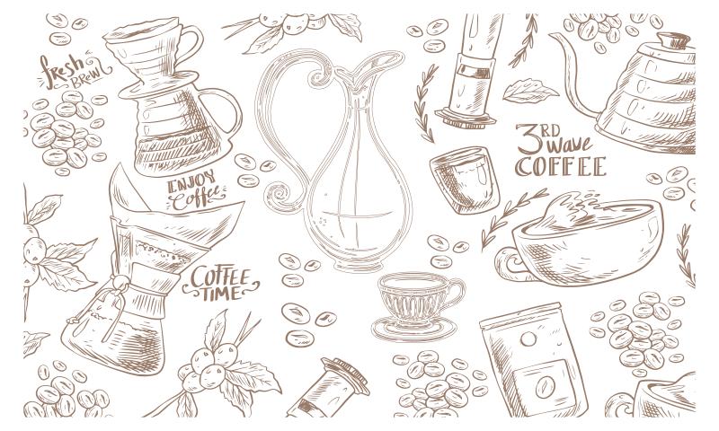 TenStickers. Covoare contemporane din sticlă elegantă cafea espresso. Alege acest covor dreptunghiular modern din vinil pentru cafea pentru a-ți actualiza aspectul caselor! înscrieți-vă pe site-ul nostru cu 10% reducere la prima comandă.