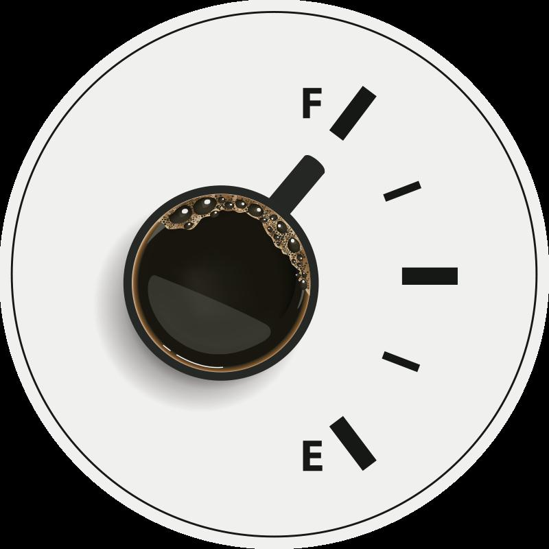 TenStickers. Kahve gücü tam çağdaş halılar. Beyaz zemin üzerine bir kahve fincanı görüntüsünün yer aldığı bu özgün tasarım, yemek odası dekorasyonu için idealdir. Uygulaması kolay.