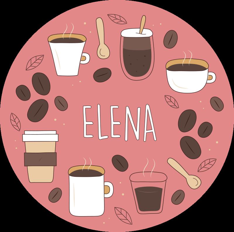 TenStickers. Dywan winylowy Różne filiżanki kawy . Różowy dywan winylowy z kawą. To idealny wzór do Twojej kuchni. łatwe do czyszczenia i przechowywania. Wykonane z wysokiej jakości materiałów.