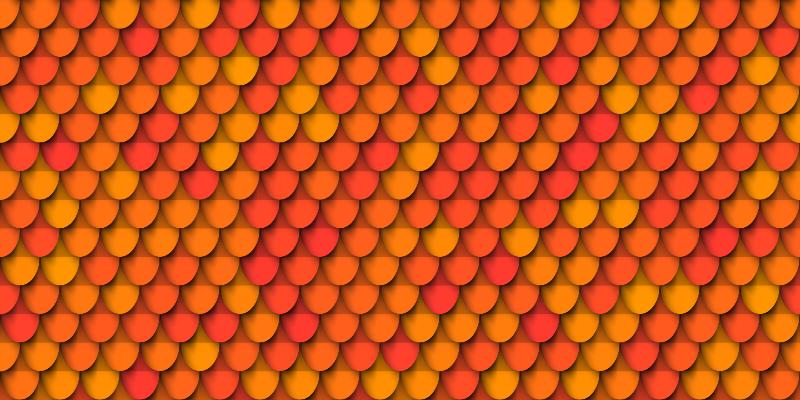 TenStickers. Tapete retro com padrão de telha. Tapete de vinil estampado que apresenta um padrão que se parece com telhas antigas. Inscreva-se com 10% de desconto. Alta qualidade.