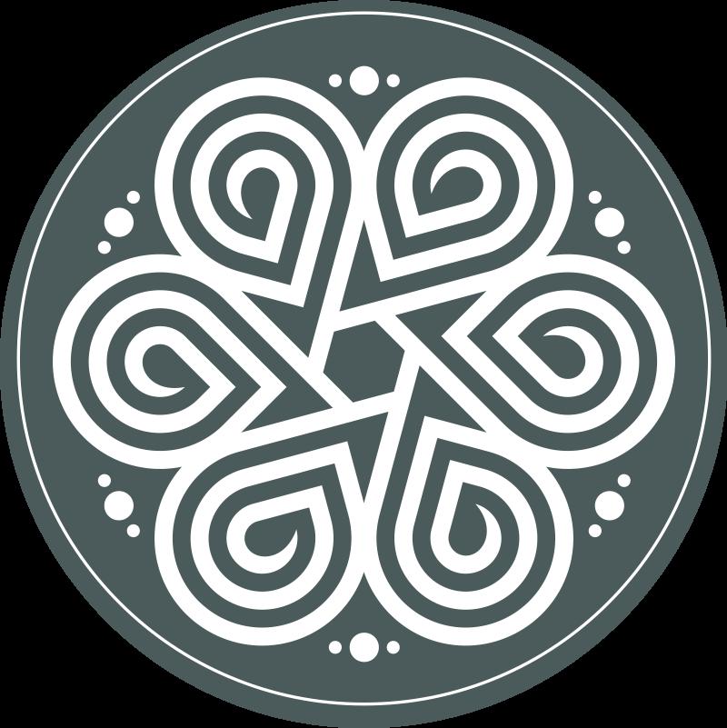 TenStickers. Dywan winylowy elegancki biały ornament. Nie przegap szansy udekorowania swojego domu tym dekoracyjnym dywanikiem winylowym z białą gwiazdą i zielonym tłem, który może zostać dostarczony do Twojego domu!