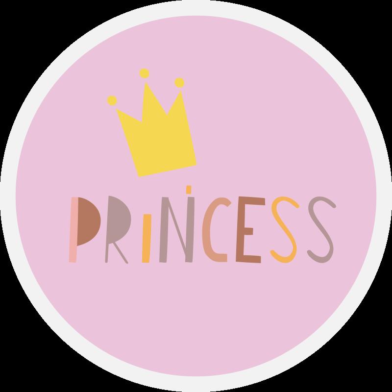 TenStickers. Printesa pe fundal roz covor de vinil pentru copii. Un covor uimitor de vinil pentru copii cu text de prințesă pe tine, fetiței îți va plăcea! Reduceri excelente disponibile astăzi online.