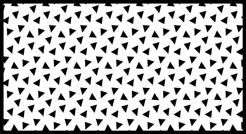 TenStickers. μαύρο και άσπρο τρίγωνα γεωμετρικά χαλιά βινυλίου. γεωμετρικό τρίγωνο βινυλίου χαλί που διαθέτει μοτίβα μαύρων τριγώνων σε λευκό φόντο. διατίθεται σε 50 χρώματα.