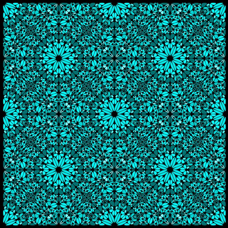 TENSTICKERS. 詳細なティールモザイクモザイクビニールフローリング. ターキスタイルのビニールラグ。パターンは、黒の装飾が施されたターキスパターンを示しています。それはあなたの台所のためのperfet装飾です。
