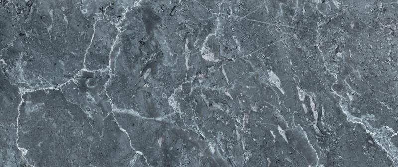 TENSTICKERS. 灰色の大理石のキッチンビニールラグ. グレーと白の鮮やかな色合いの非常にリアルな大理石のパターンが特徴の大理石のビニールラグ。サイズをお選びください。