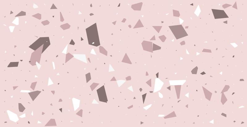 TenStickers. Vinylteppich Textur Rosa strukturiert. Küchen-vinyl-teppich mit einem brillanten Muster aus abstrakten geometrischen formen in verschiedenen rosa- und weißtönen.
