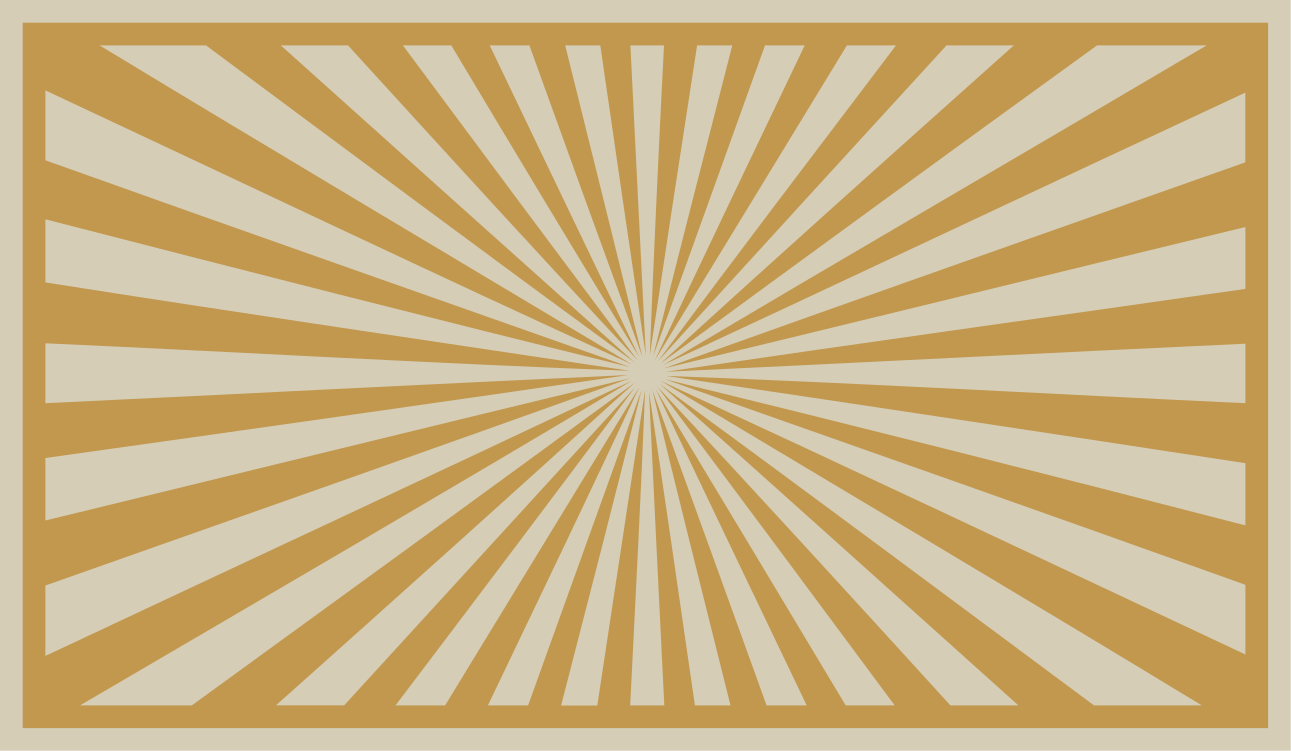 TenStickers. Dywan winylowy Promienie słoneczne. Ten dywan sunburst z wzorem słońca abstrait na żółtym tle. Ten dywan jest bardzo subtelny w kolorze iz pewnością będzie pasował do każdego pomieszczenia