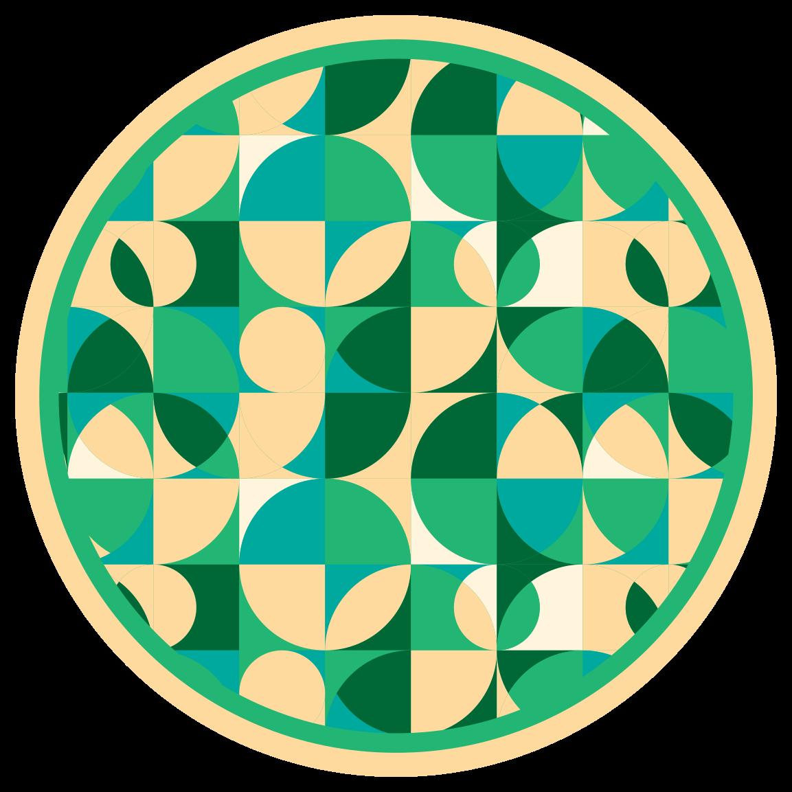 TenStickers. Covoare circulare contemporane de design verde. Vă oferim modele originale pentru a schimba aspectul casei dvs. în elegant. Aruncați o privire la acest covor circular de design verde. Livrare la domiciliu