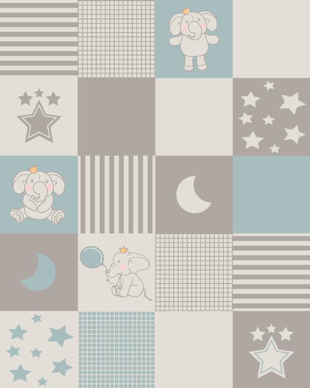 TenVinilo. Alfombra vinilo hidráulica azulejos nórdicos. ¿Buscas un toque de modernidad y sencillez? ¡Esta alfombra vinilo hidráulica con elefante es perfecta para ti! ¡Envío exprés a domicilio!