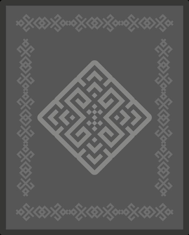 TENSTICKERS. 灰色の長方形のエスニックエスニックスタイルのビニールラグ. 家のための灰色の長方形の民族の民族の敷物。カーペットは、家の内外を問わず、家のあらゆる部分を飾るのに適しています。