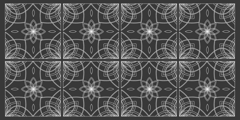 TenStickers. Kare karolar çağdaş kilimler tasarlar. Siyah rengi seviyor musun? Bu halı senin için yapıldı! İçinde benzersiz desenler bulunan tasarımcı karolardan oluşan güzel bir halı sunar.