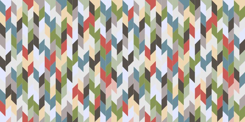TenStickers. 矩形瓷砖当代地毯. 这款美丽多彩的矩形瓷砖现代乙烯基地毯将极大地改变您的客厅和其他居室空间。