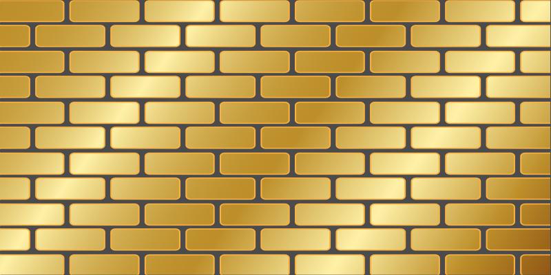 TenVinilo. Alfombra vinilo textura ladrillo de pared. Alfombra vinílica moderna de ladrillo de color dorado para que decores cualquier estancia de tu hogar de forma original ¡Envío exprés!