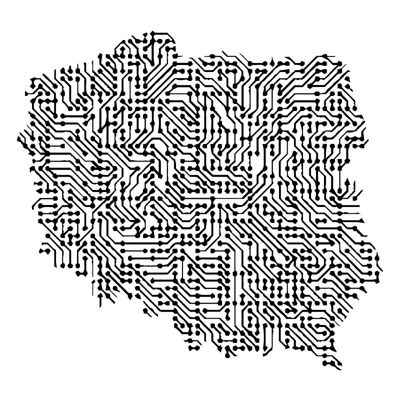 TenStickers. Dywan winylowy Polska abstrakcyjna mapa. Abstrakcyjna mapa polska projekt dywanu winylowego do domu i innych przestrzeni. Dywan nadaje się do każdego pomieszczenia w domu i można go prać.