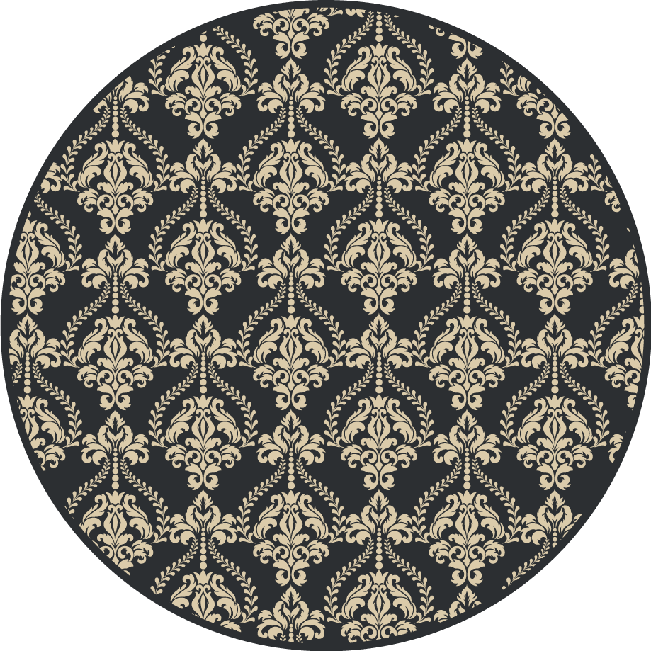 TenStickers. Damask seamless pattern Home Office Vinyl Rug. Vinyl rug with Damask pattern. It presents ornaments in different shades of gray. You can choose any size and easily clean it.