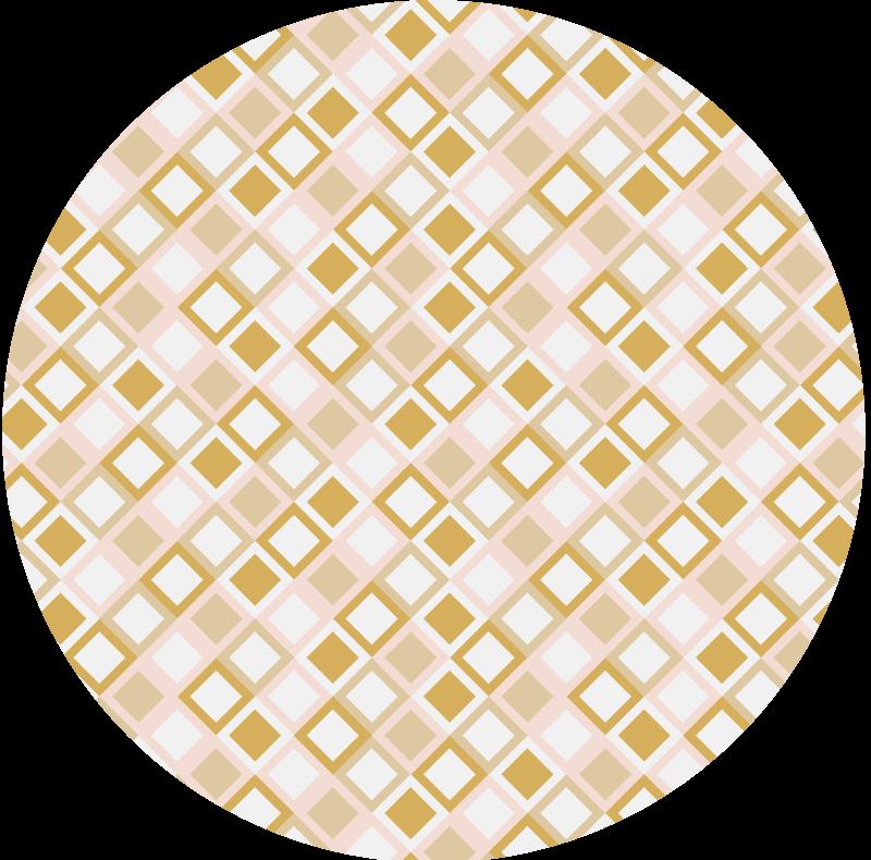 TenStickers. 金钻石家庭办公室乙烯基地毯. 钻石乙烯基地毯,饰有以可爱的金色调染色的钻石图案。使用优质材料。定制。