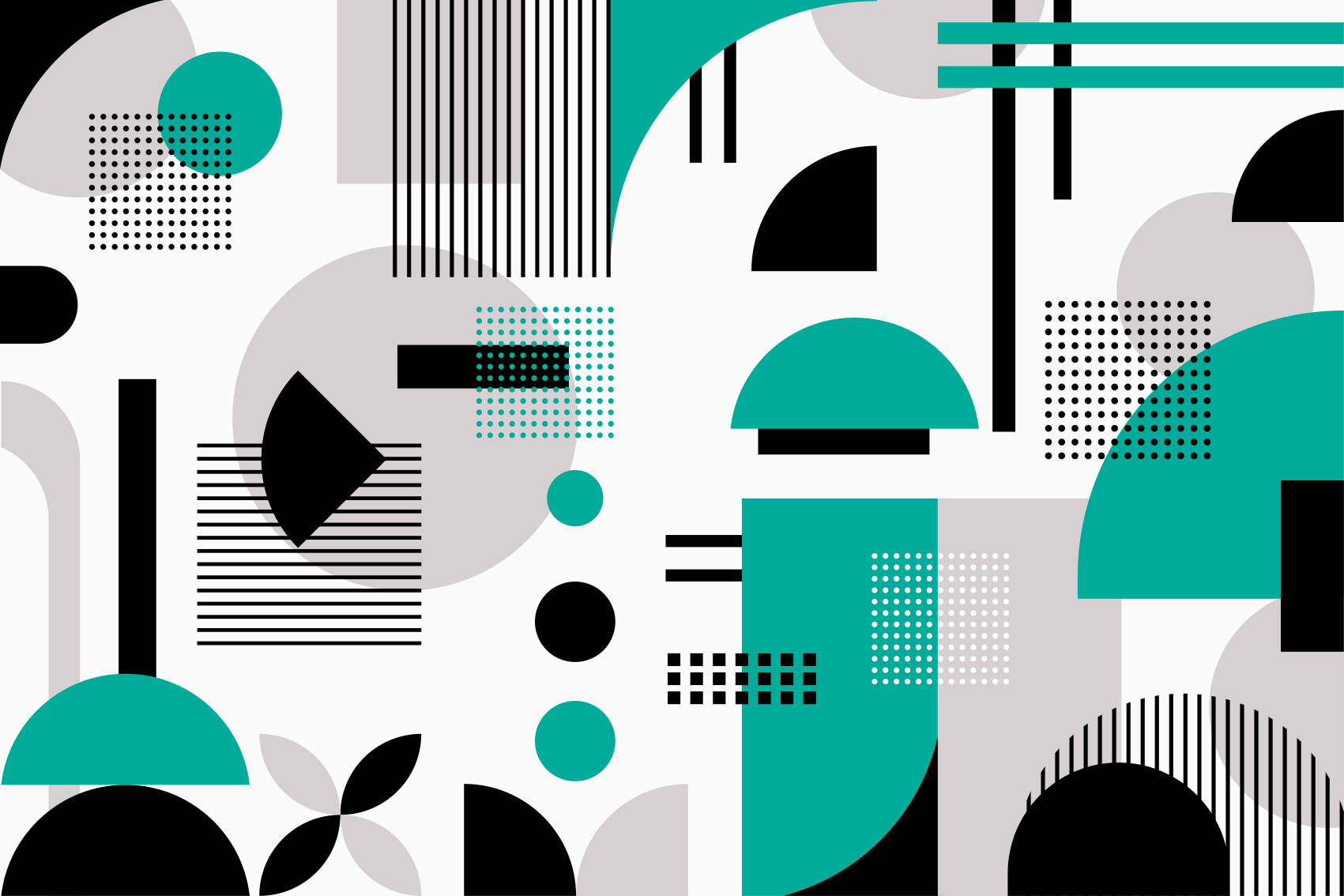 TENSTICKERS. モダンな幾何学的形状のビニールラグ. さまざまな抽象的な形のパターンがすべて重なり合って交差していることを特徴とする幾何学的なビニールの敷物。サイズをお選びください。