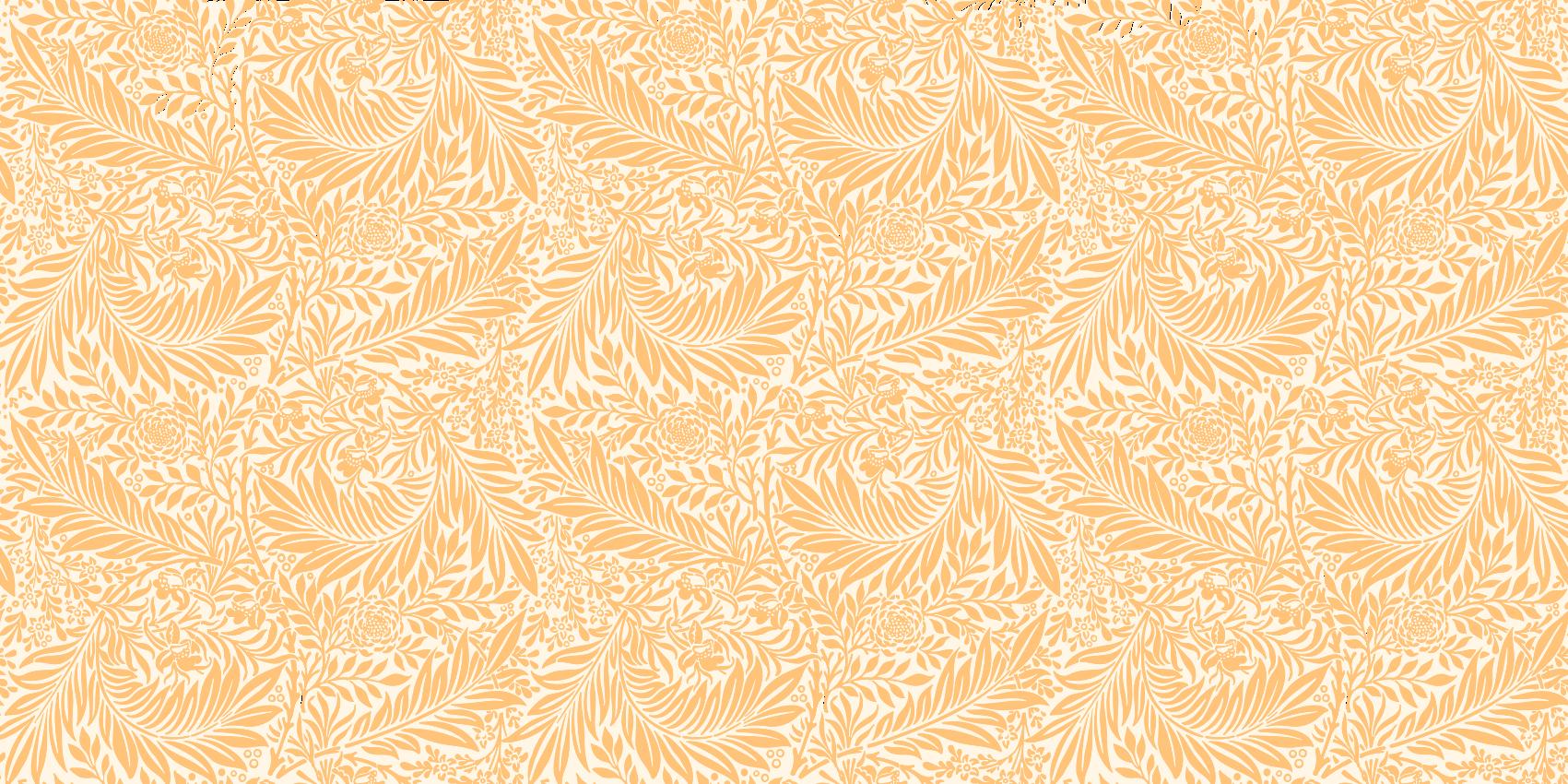 TenStickers. Tapete de vinil flor de laranjeira. Tapete de vinil floral laranja que apresenta um padrão incrivelmente intrincado de folhas e flores, todas coloridas em laranja. Descontos disponíveis.