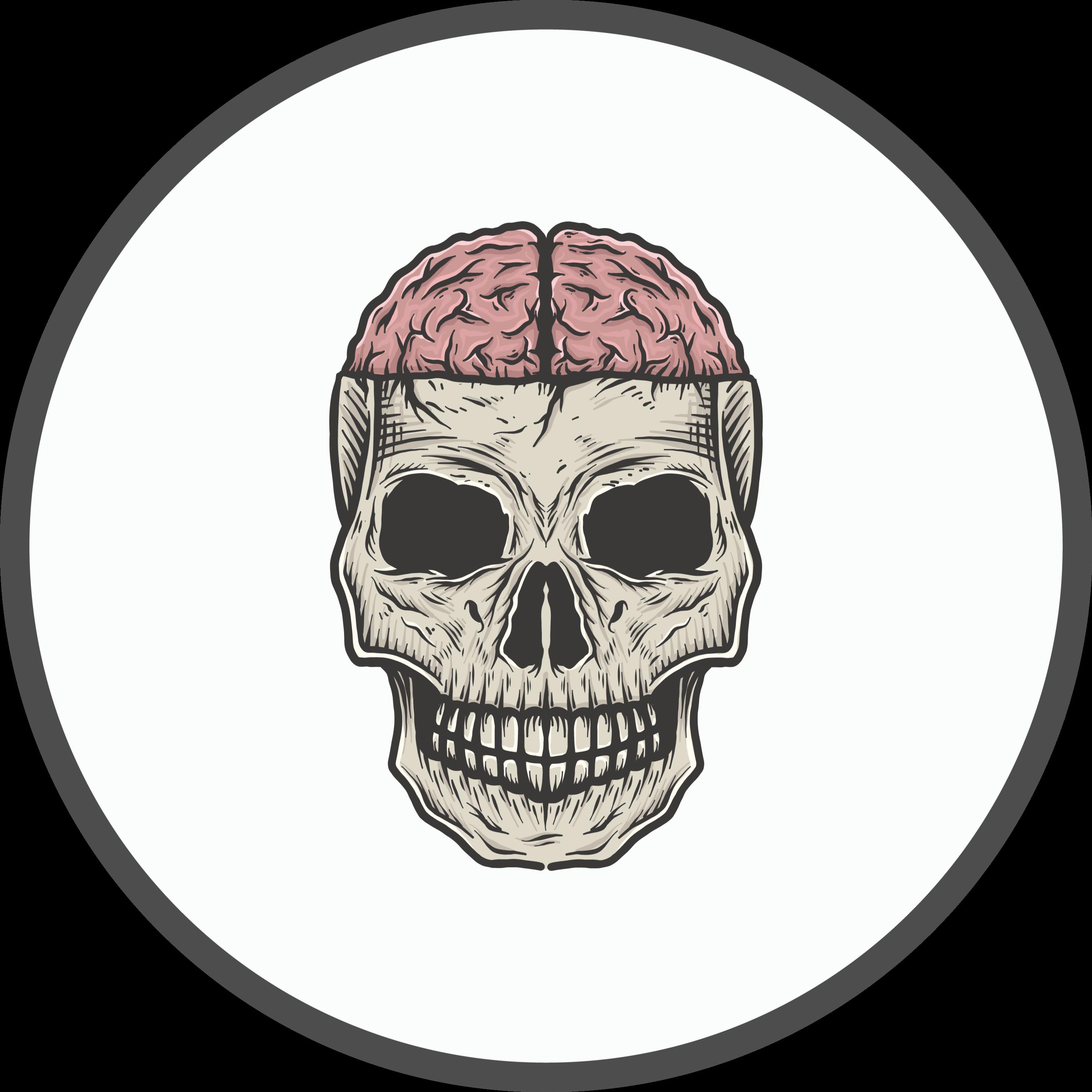 TenVinilo. Alfombra vinilo juvenil de cerebro y cráneo. Alfombra vinílica habitación juvenil de cerebro y cráneo perfecta para nuestros clientes amantes de las calaveras ¡Envío exprés!