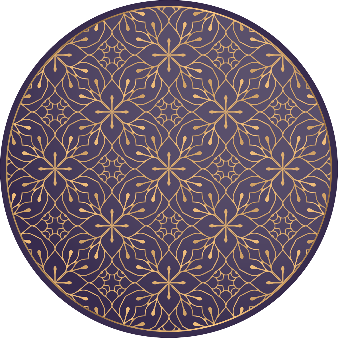 TenStickers. Mandala Elegant Vintage mandala mat. Vinyl rug with retro pattern. The patern presents dark blue ornaments and you can personalzie it in any size. Check it out!