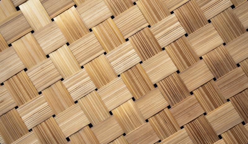 TenStickers. Covor textură cu model natural din bambus. Covor de vinil cu model de bambus. Presează cuburi de bambus împletite într-un model elegant. Din vinil de înaltă calitate. Verifică!