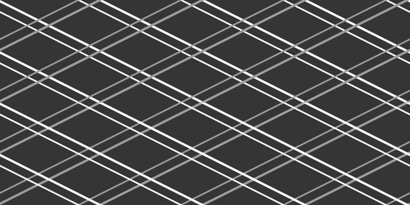 TenStickers. Dywan winylowy do biura prezesa Czarny wzór rombu. Geometryczny dywan winylowy z wzorem w szaro-białe linie przecinające się nawzajem. Wysokiej jakości winyl.