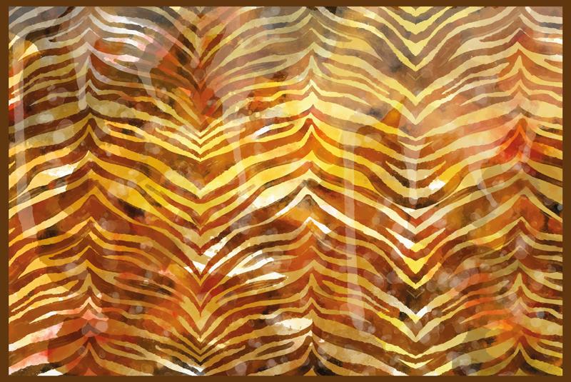TenStickers. Tapete zebra com estampa animal com textura aquarela. Tapete de vinil de textura aquarela zebra com estampa animal e acabamento realista e fino. Disponível em qualquer tamanho personalizado.