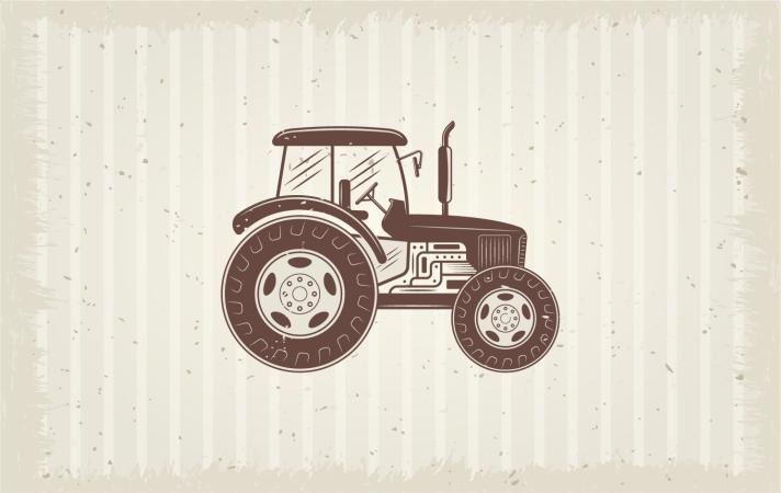 TenVinilo. Alfombra vinilo vintage tractor agrícola . Dale a tu hogar un aspecto fresco con esta alfombra vinilo vintage para tractor agrícola. Muy fácil de limpiar con agua y jabón común.