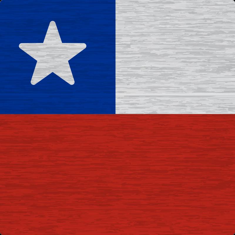 TenVinilo. Alfombra vinilo textura piedra Bandera Chile. Alfombra vinílica efecto piedra de la bandera de Chile para decorar una oficina, hogar, negocio, etc. Es original, duradero y de fácil mantenimiento.