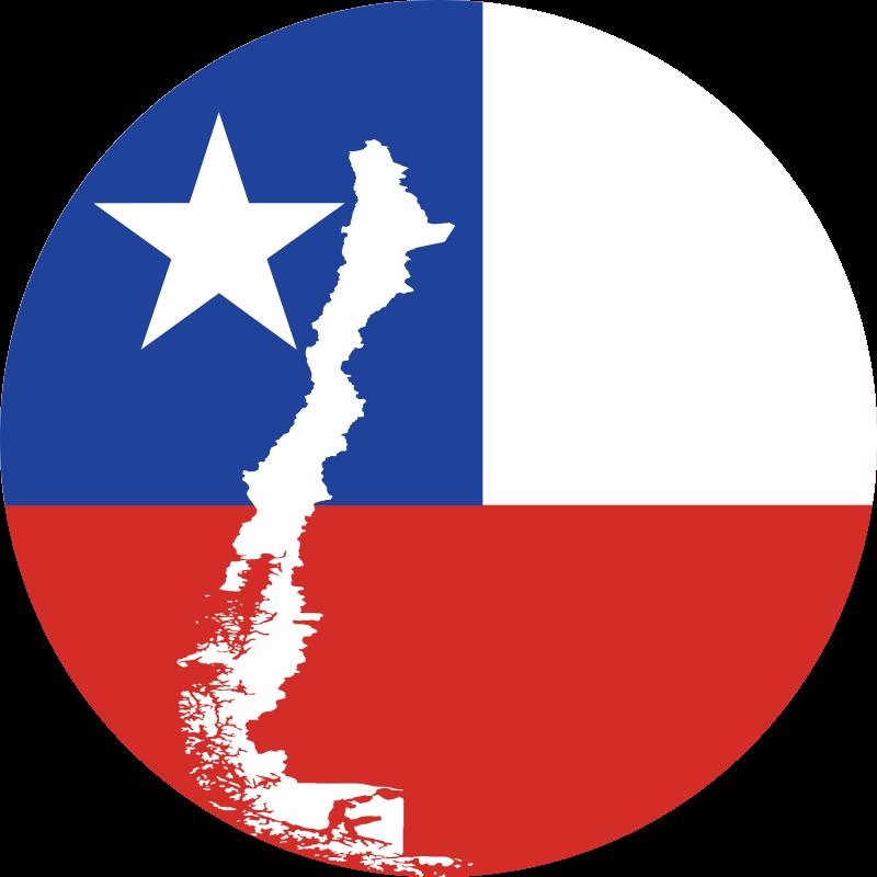 TenVinilo. Alfombra vinilo bandera Chile con mapa. Alfombra vinilo mapa de Chile en la bandera con la forma del país. Hecho de material de alta calidad ¡Descuentos disponibles en la página web!