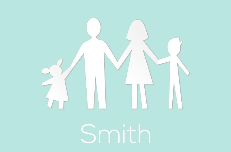 Tenstickers. Familiemedlemmer med navn personlig vinylteppe. Hvor deilig det ville være å få familien din illustrert på et teppe med vårt illustrerende personaliserte vinylvineteppe. Kjøp det nå!