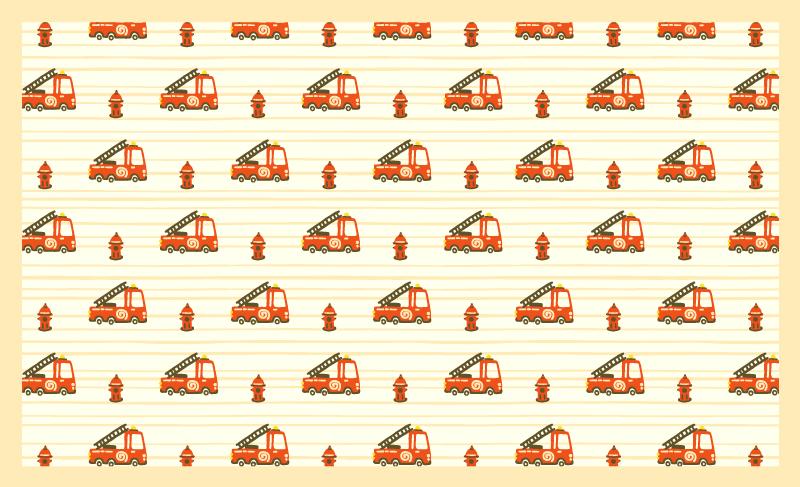 TenVinilo. Alfombra vinilo infantil camión de bomberos. Transforma la habitación de un niño con esta alfombra vinilo infantil de camión de bomberos. Es duradero y fácil de mantener
