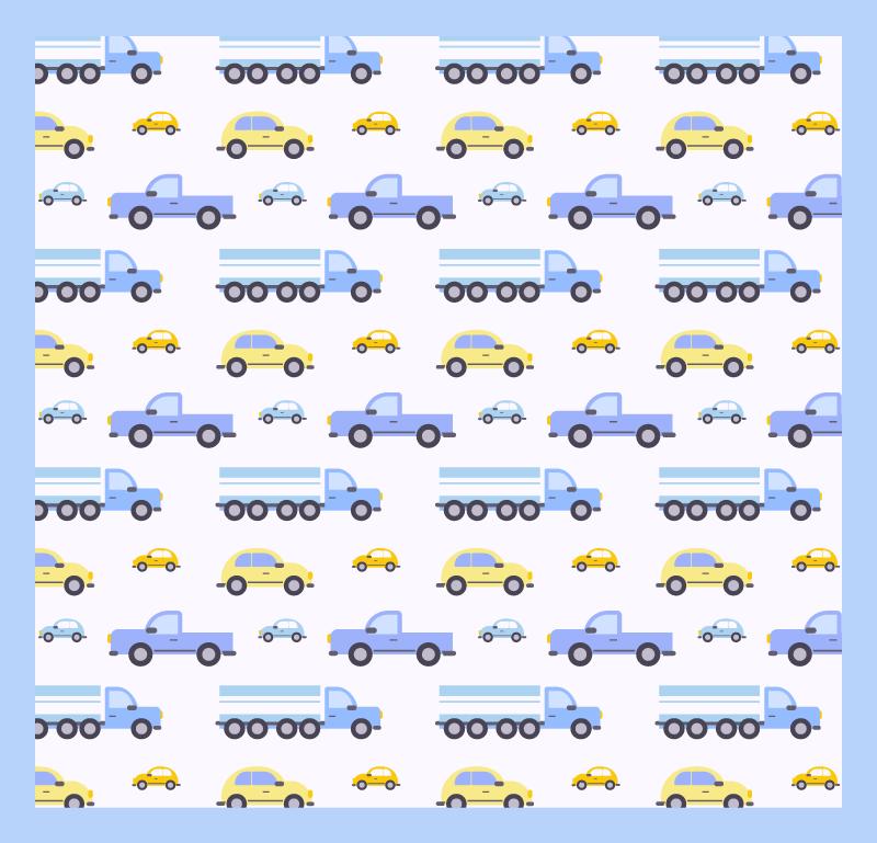 TenVinilo. Alfombra vinilo infantil camiones y coches. Alfombra vinilo infantil de camiones y coches para la habitación de los niños ¡Es fácil de limpiar y no se debe adherir! Entrega a domicilio