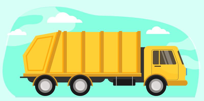 TenVinilo. Alfombra vinilo infantil camión amarillo. Alfombra vinilo infantil con camión amarillo. Un interesante para la habitación de los niños. Es fácil de limpiar e inamovible ¡Envío exprés!