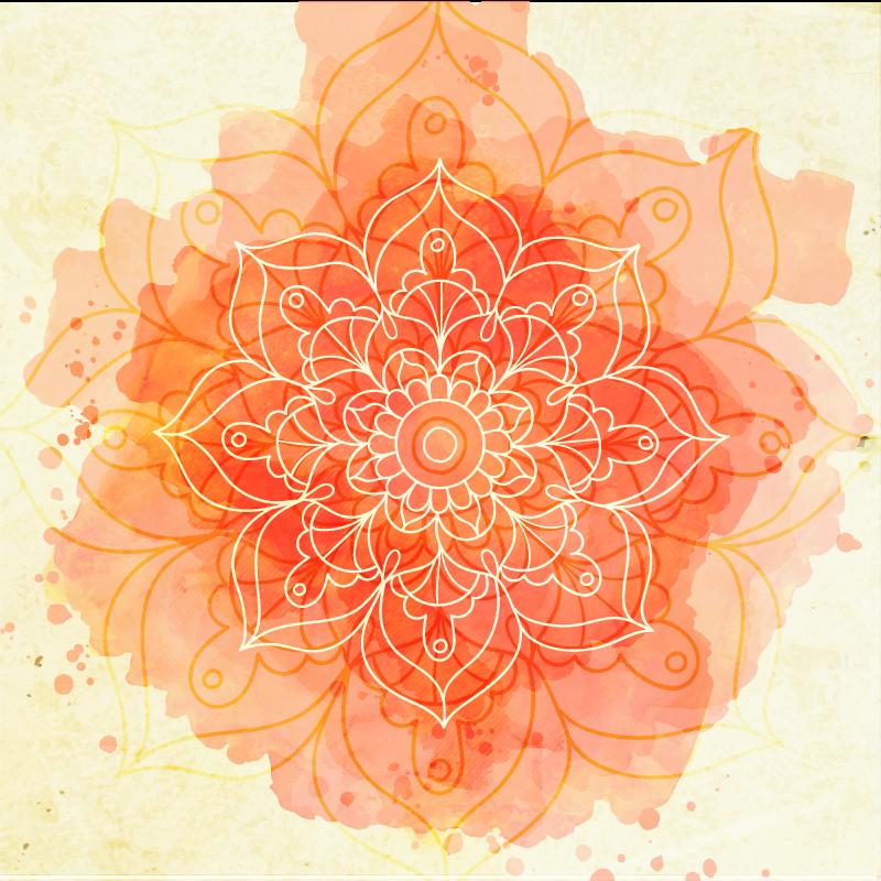 TenVinilo. Alfombra vinilo mandala flor de loto. Alfombra vinilo mandala de color rosa para decorar cualquier parte de una casa. Es duradero, fácil de limpiar y está disponible en varios tamaños.