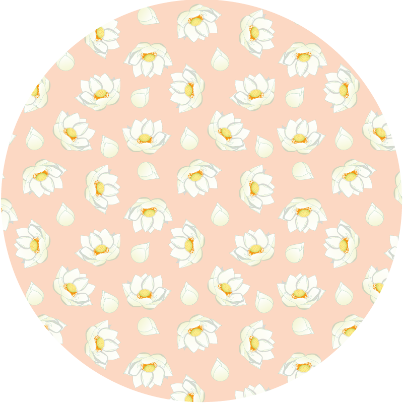 TenStickers. Lotus pink petals flower rug. Round-tip pink vinyl carpet hosting lovely design prints of lotus petal flowers. Suitable for any part of a house, for inside and outside space.
